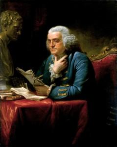 El físico Benjamín Franklin, inventor del pararrayos, y uno de los Padres Fundadores de los Estados Unidos.