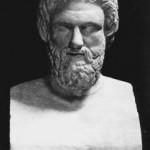 Busto de Aristófanes.