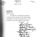 Cubierta del informe de la comisión Warren.