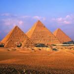 Las tres pirámides de Gizeh.