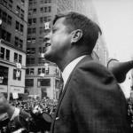 Kennedy durante la campaña de 1960.