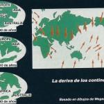 La deriva de los continentes (basado en dibujos de Wegener).