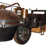 Coche de vapor del inventor francés Nicolas-Joseph Cugnot (1725-1804), modelo de 1771.