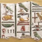 Fragmento de escritura jeroglífica en egipcio tardío. Tumba de Seti I.