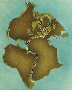 Wegener mostró que si se recortan en un papel los continentes y se los une, encajan perfectamente.