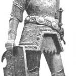El rey Arturo con su armadura de guerra en una estatua en bronce del siglo XV que se encuentra en el cenotafio del emperador Maximiliano I.