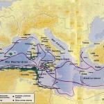 Colonizaciones fenicias en el Mediterráneo.