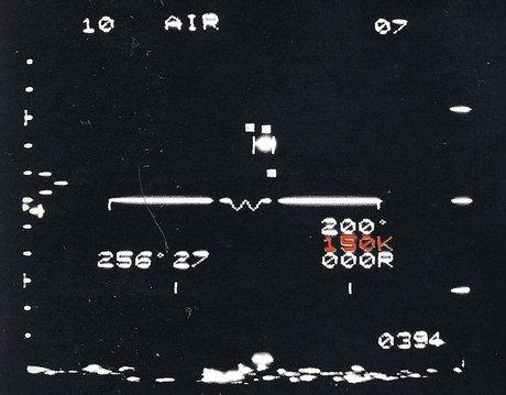 La velocidad del ovni calculada en millas náuticas o nudos, se describe en cifras rojas. El número del extremo superior derecho de la pantalla indica la altura del objeto en miles de pies.