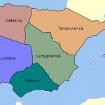 Hispania tras la división provincial de Diocleciano.