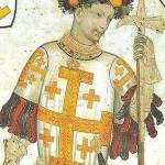 """Godofredo de Bouillón (1060-1100), uno de los principales jefes de la Primera Cruzada. Gobernador de Jerusalén bajo el título de """"Defensor del Santo Sepulcro""""."""