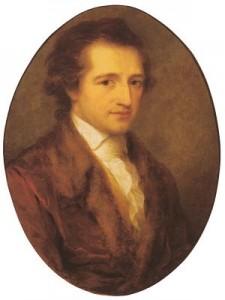 Retrato de Goethe en su juventud.