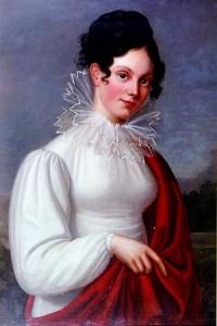 Minna Herzlieb (1789-1865) inspiró algunos rasgos de la protagonista de la novela 'Las afinidades electivas', donde el escritor trata el tema de la indisolubilidad del matrimonio.
