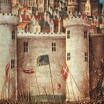 Representación del asedio de Antioquía durante la Primera Cruzada en una miniatura medieval.