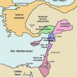 Divisiones políticas de la zona en torno a 1140.