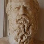 Presunto busto de Heráclito que se halla en la 'Stanza di filosofi' de los Museos Capitolinos de Roma.