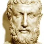 Nace en Elea hacia el siglo V a. de C. Parece haber recibido influencias de Jenófanes y los pitagóricos.