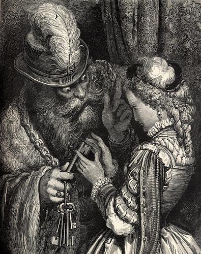 Barba Azul (litografía de Gustave Doré)
