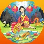 La historia de la cenicienta china se desarrolla a finales del s. III a. C. No se detalla la localización exacta donde transcurre el relato, pero se considera que la zona de Guangxi es la más probable, y que el zapato perdido por la muchacha es llevado al rey de una isla.