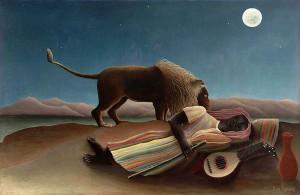 La gitana dormida (La bohémienne endormie) es un óleo sobre lienzo pintado por Henri Rousseau en 1897.