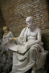 Polibio (200-118 a. C.) fue un historiador griego. Su propósito central fue explicar cómo pudo imponerse la hegemonía romana en la cuenca del Mediterráneo.