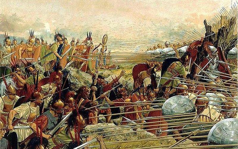 La batalla de Pidna.