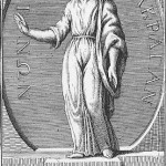 Grabado de Empédocles de Agrigento, filósofo y político griego.