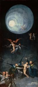 La Ascensión al Empíreo, una de las cuatro tablas realizada por el pintor flamenco El Bosco que conforman su Visión del Más Allá.