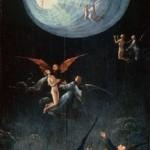 Visiones del más allá es el tema de cuatro postigos que se conservan en el Palacio Ducal de Venecia, realizados por el pintor flamenco El Bosco, ejecutado en óleo sobre tabla. En esta, las almas están sostenidas por ángeles que las conducen hacia la luz divina a través de un pasaje cilíndrico, más allá del cual deben proseguir solos.