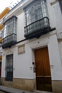 Casa natal de Gustavo Adolfo Bécquer en la calle del Conde de Barajas de Sevilla.