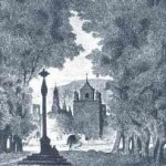 Monasterio de Santa María de Veruela, Zaragoza. Dibujo de Valeriano Bécquer, su hermano y compañero inseparable.