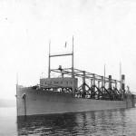 USS Cyclops (AC-4) en el río Hudson en 1911.
