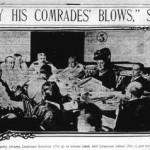 """En un tiempo de códigos de silencio y lealtad castrense, Rosa Sutton fue la primera madre en desafiar a los militares por la muerte de un hijo ante un tribunal. (En la imagen, fotografía del New York American, en julio de 1909, ilustrando la información del diario sobre el asunto: """"Jimmie fue asesinado por sus compañeros"""", afirma la señora Sutton)."""