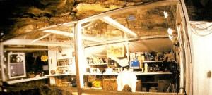 Cámara de aislamiento bajo tierra donde Stefania Follini pasó cerca de cuatro meses en un experimento diseñado para estudiar los ritmos circadianos.