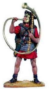 Cornu romano usado por el ejército principalmente para comunicar las órdenes a las tropas en batalla.