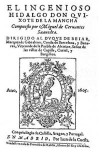 Cuarta edición de 'El ingenioso hidalgo don Quijote de la Mancha' (1605).