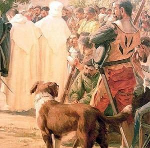 Los canes fueron utilizados por los españoles constantemente en combate durante toda la conquista, ya fuera en vanguardia como tropa de choque, o en retaguardia en tareas defensivas.