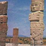 Los atlantes de Tula son monumentos monolíticos pertenecientes a la cultura tolteca. Miden poco más de 4,5 metros de altura. Labrados en piedra basáltica, son representaciones de guerreros toltecas.