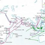 Exploraciones y bases comerciales portuguesas, españolas y holandesas.