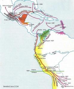 Mapa de los conquistadores.