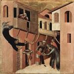 De Simone Martini (1285-1344). Temas oscuros y una intensa emoción se vieron cada vez más acentuadas en el arte gótico tardío.