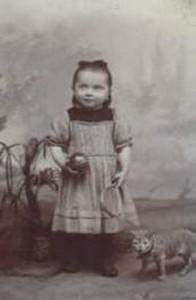 Teresa Neumann a los 4 años de edad.