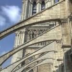 Arbotantes de la nave central de Nuestra Señora de París, que datan del año 1230.