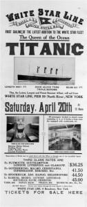 Publicidad sobre el Titanic.