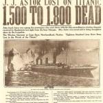 Numerosos historiadores han ido ajustando con el tiempo y en base a sus investigaciones la cifra exacta de personas que se dejaron la vida en el hundimiento del Titanic, pero quizá esta no se sepa nunca con exactitud. (En la imagen, información periodística de la época sobre el balance de fallecidos).