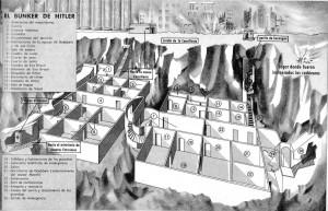Plano del refugio antiaéreo situado en el subsuelo de Berlín, destinado a proteger a los altos mandos del Estado y las fuerzas armadas de la Alemania nazi durante la II Guerra Mundial.