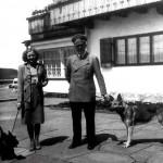 Eva Anna Paula Braun (1912-1945) y Adolf Hitler (1889-1945).