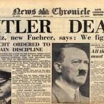 El cadáver de Adolf Hitler.