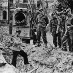 Ruinas de la Cancillería del Reich, lugar donde presuntamente fueron quemados los cuerpos de Hitler y su mujer.