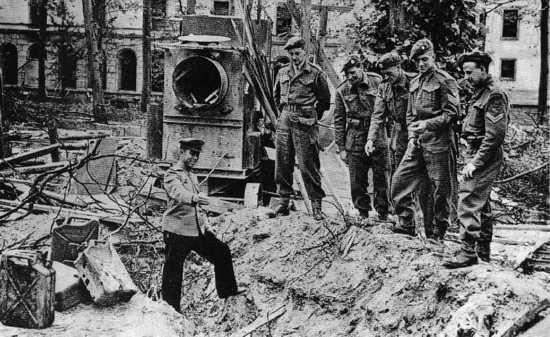 El cadáver de Adolf Hitler