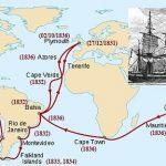 Ruta del HMS Beagle alrededor del mundo.